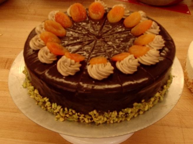 Ganache glazed cake