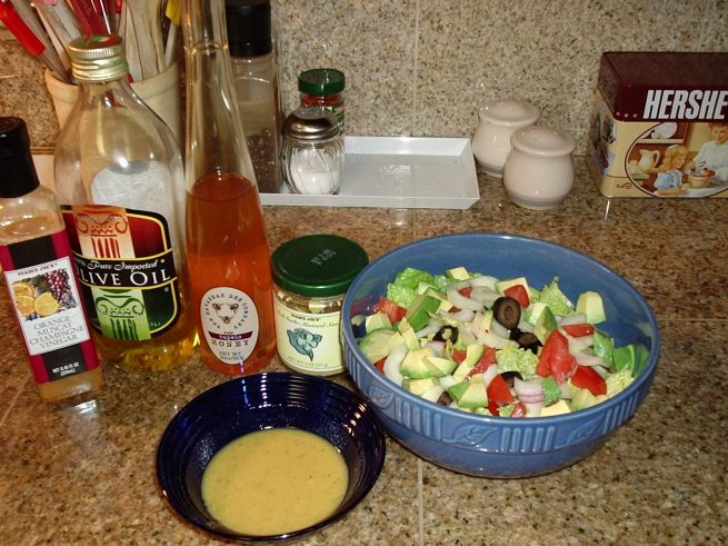 Fast, simple dressing and salad